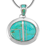 Sterling Silver Pendant Turquoise P3082-LG-C05