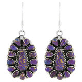 Sterling Silver Earrings Purple Turquoise E1034-C77