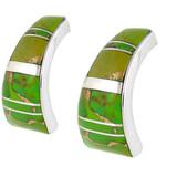 Sterling Silver Earrings Green Turquoise E1148-C06