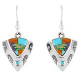 Sterling Silver Earrings Multi Gemstone E1156-C01