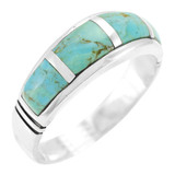 Turquoise Ring Sterling Silver R2025-C05