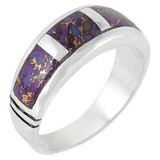 Purple Turquoise Ring Sterling Silver R2025-C07