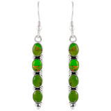 Sterling Silver Earrings Green Turquoise E1174-C76
