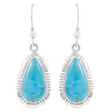 Sterling Silver Earrings Turquoise E1044-C75