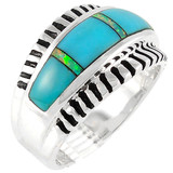 Turquoise Ring Sterling Silver R2267-C21