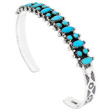 Turquoise Bracelet Sterling Silver B5528-C75