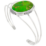 Green Turquoise Bracelet Sterling Silver B5531-C76