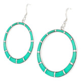 Sterling Silver Earrings Turquoise E1187-C05