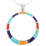 Sterling Silver Pendant Multi Gemstone P3124-C00