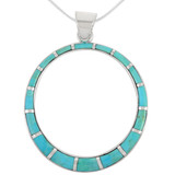 Sterling Silver Pendant Turquoise P3124-C05