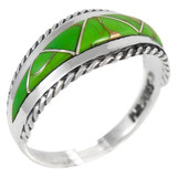 Green Turquoise Ring Sterling Silver R2285-C06