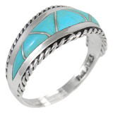 Turquoise Ring Sterling Silver R2285-C05
