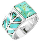 Turquoise Ring Sterling Silver R2372-C75