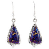 Sterling Silver Earrings Purple Turquoise E1065-SM-C77