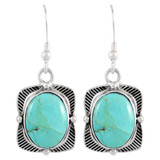 Sterling Silver Earrings Turquoise E1235-C75