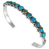 Matrix Turquoise Bracelet Sterling Silver B5426-C84