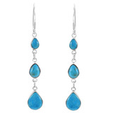 Sterling Silver Chandelier Earrings Turquoise E1241-C75