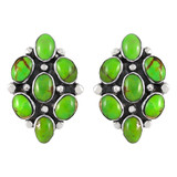 Sterling Silver Earrings Green Turquoise E1242-C76