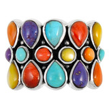 Multi Gemstone Ring Sterling Silver R2415-C71