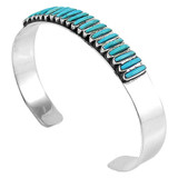 Turquoise Bracelet Sterling Silver B5438-C75
