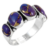 Purple Turquoise Ring Sterling Silver R2421-C77