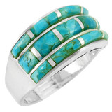 Turquoise Ring Sterling Silver R2245-C05