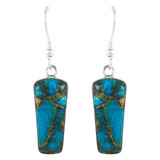 Sterling Silver Earrings Matrix Turquoise E1190-C84