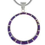 Sterling Silver Pendant Purple Turquoise P3124-C07
