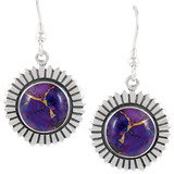 Sterling Silver Earrings Purple Turquoise E1268-C77