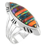 Multi Gemstone Ring Sterling Silver R2023-C00