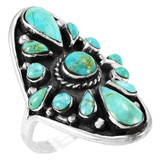 Turquoise Ring Jewelry Sterling Silver R2034-C75