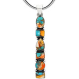 Sterling Silver Pendant Spiny Turquoise P3140-C89