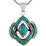 Sterling Silver Pendant Matrix Turquoise P3115-C84