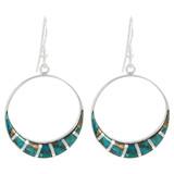 Sterling Silver Earrings Matrix Turquoise E1260-C84