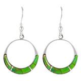 Sterling Silver Earrings Green Turquoise E1287-C06