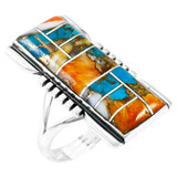 Spiny Turquoise Ring Sterling Silver R2017-C89