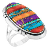 Multi-Gemstone Ring Sterling Silver R2429-C00