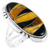 Tiger Eye Ring Sterling Silver R2429-C33