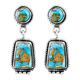 Matrix Turquoise Earrings Sterling Silver E1296-C84