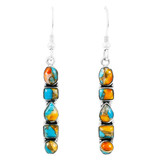 Spiny Turquoise Earrings Sterling Silver E1243-C89