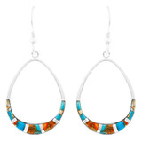 Spiny Turquoise Earrings Sterling Silver E1291-C89