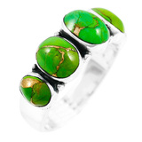 Green Turquoise Ring Sterling Silver R2421-C76