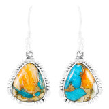 Spiny Turquoise Earrings Sterling Silver E1157-SM-C89