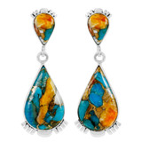 Spiny Turquoise Earrings Sterling Silver E1303-C89