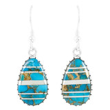 Matrix Turquoise Earrings Sterling Silver E1224-C84