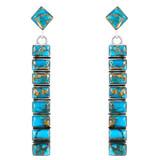 Matrix Turquoise Earrings Sterling Silver E1305-C84