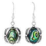 Sterling Silver Earrings Abalone Shell E1311-C10