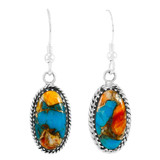 Spiny Turquoise Earrings Sterling Silver E1310-C89