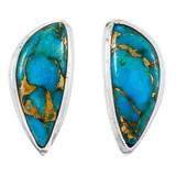 Matrix Turquoise Earrings Sterling Silver E1314-C84