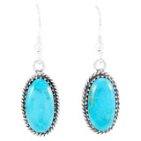 Turquoise Earrings Sterling Silver E1310-C75